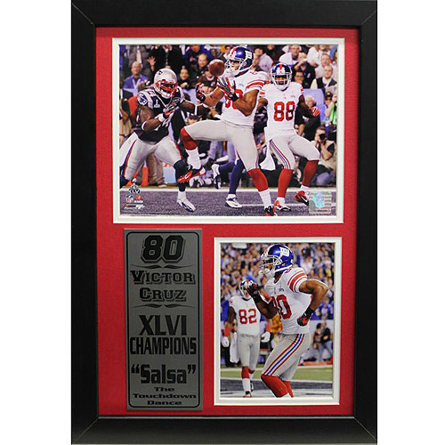 NFL Victor Cruz Photo Stat Frame, 12x18