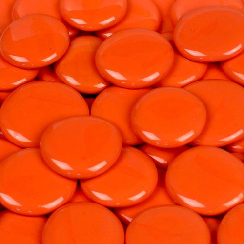 Wholesalers USA 5 lbs of  Glass Gems in Electric Orange
