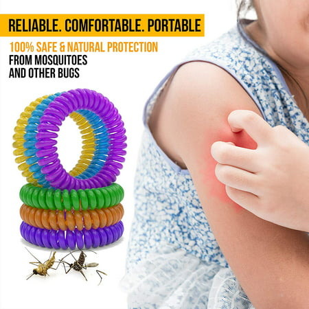 FeelGlad 12 Pack Mosquito Repellent Bracelets, 100% Natural | Bug and Insect Protection, Waterproof DEET-Free Band | Pest Control for Kids and (Best All Natural Bug Repellent)
