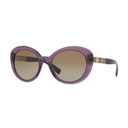 Versace Women's VE4318-502913-55 Purple Butterfly Sunglasses ()