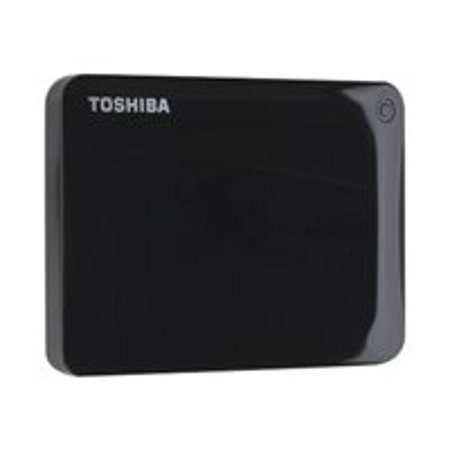 Toshiba Canvio Connect II - Hard drive - 1 TB - external (portable) - USB 3.0 - 5400 rpm - buffer: 8 MB - black - with 10GB free Cloud Backup (30 days) - for KIRA 10; Port���g��� Z20, Z30; Satellite L55; Satellite Fusion 15; Tecra C40, C50, Z40, Z50