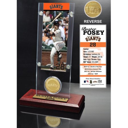 Buster Posey San Francisco Giants Highland Mint Acrylic Player Ticket with Minted Coin - No -