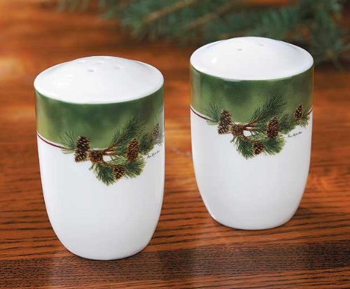 Pinecone Salt & Pepper Shakers by Persis Clayton Weirs by Wild Wings by