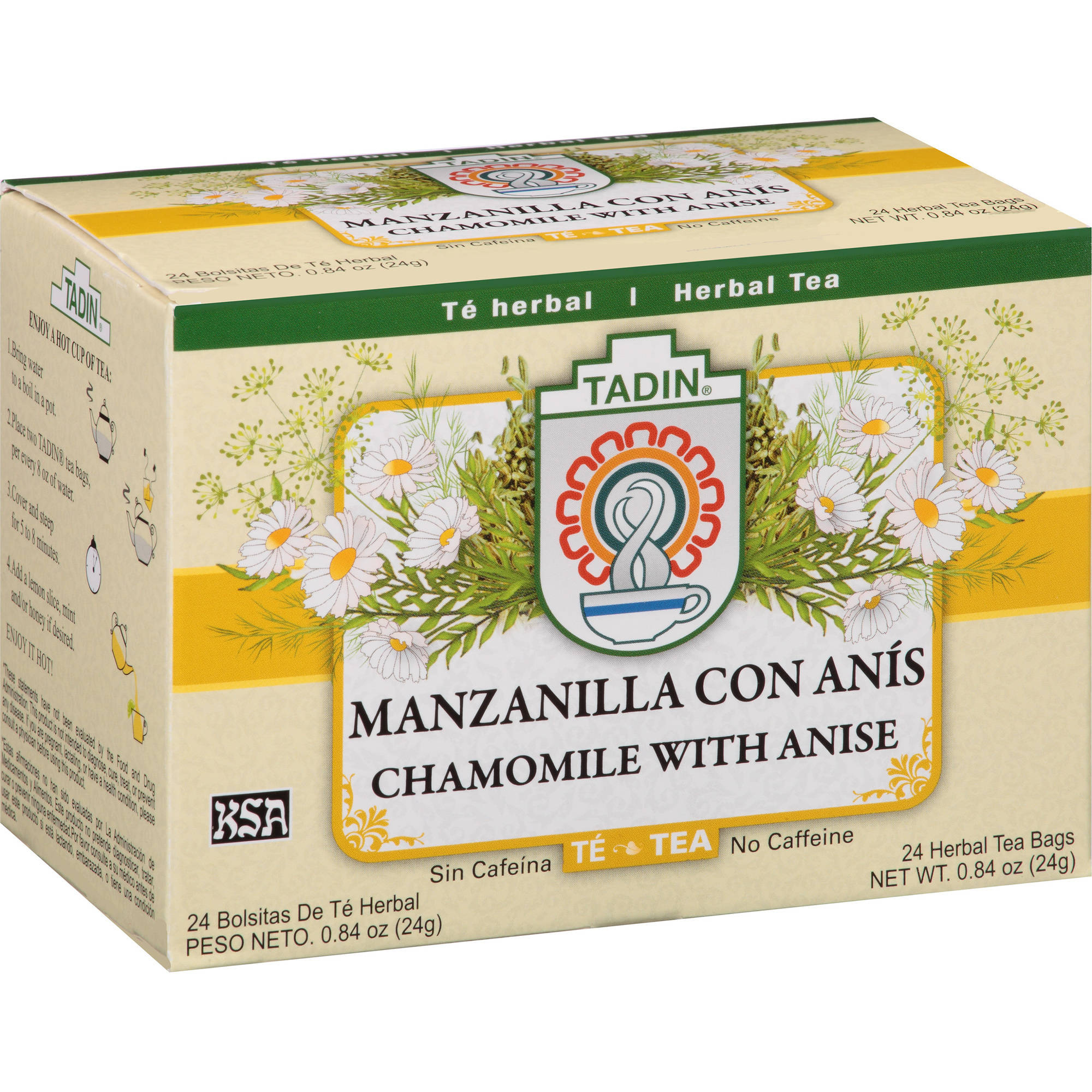 Tadin Chamomile with Anise Herbal Tea Bags, 24 count, 0.84 oz