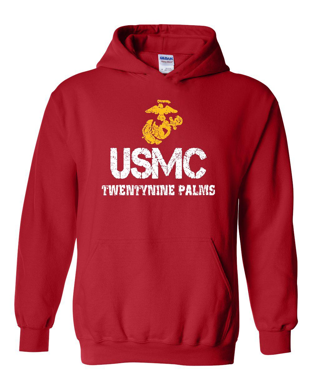 USMC Hoodie Marines California 29 Palms Air Ground Combat Center ...