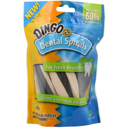 Dingo Dental Spirals, 15-Pack