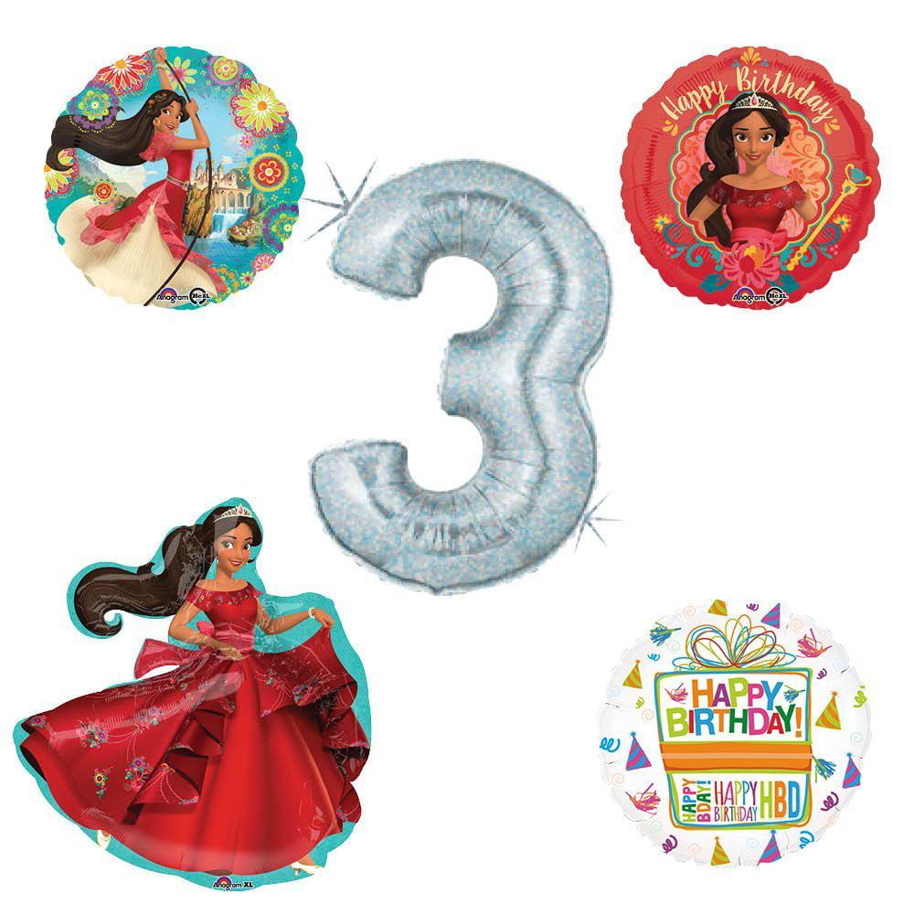 Princess Elena Of Avalor Holographic 3rd Birthday Party Balloon Kit