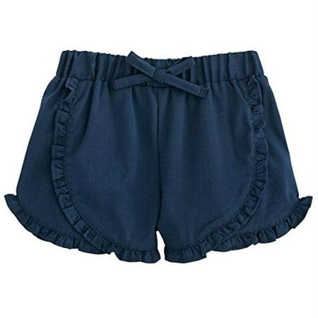 Mud Pie Baby Girls Ruffle Shorts-Navy, Blue LG/ 4T-5T - Mud Pie Halloween Baby