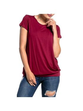 5907dc71a56 Product Image Women's Round Neck Short Sleeve Layered Nursing Tops  Maternity Breastfeeding Tunic