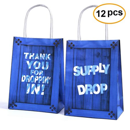 Game Party Bags Goody Favor Bags Game Drop For Kids Adults Birthday Party Themed Party Supplies Favors-12 Pack (Soccer Themed Birthday Party Supplies)