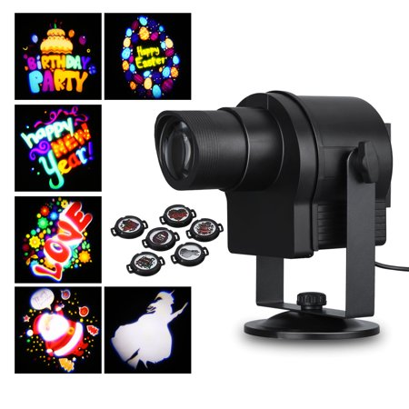 Lampwin 6pcs Switchable Pattern Lens Motion Images Rotating Decoration Lighting Indoor&Outdoor Waterproof Projector Light for Christmas Birthday Party Halloween](Halloween Light Projector)