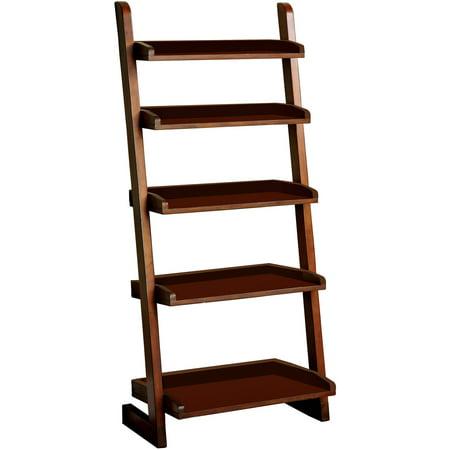 Venetian Worldwide Lugo Ladder Bookcase in Antique Oak (Antique Venetian Glass)