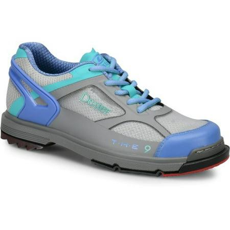 Dexter THE 9 HT Grey/Periwinkle/Aqua Women's Bowling Shoes, Size 6 (Dexter Shoes)