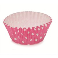 2Dia. x 1.2H Ruffled Cupcake Cup Polka Dot Pink,Case of 1800