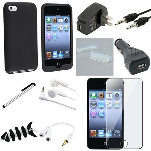 INSTEN 10 ACCESSORY BUNDLE CASE CHARGER For iPod TOUCH 4TH GEN