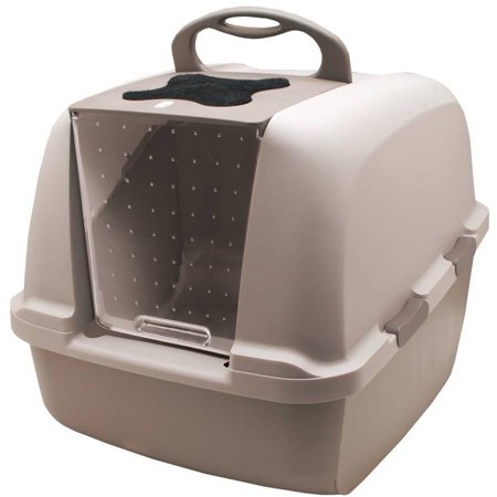 Catit Design Jumbo Hooded Cat Litter Pan, Grey