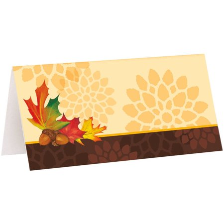 Fall Leaves Place Cards, 16ct