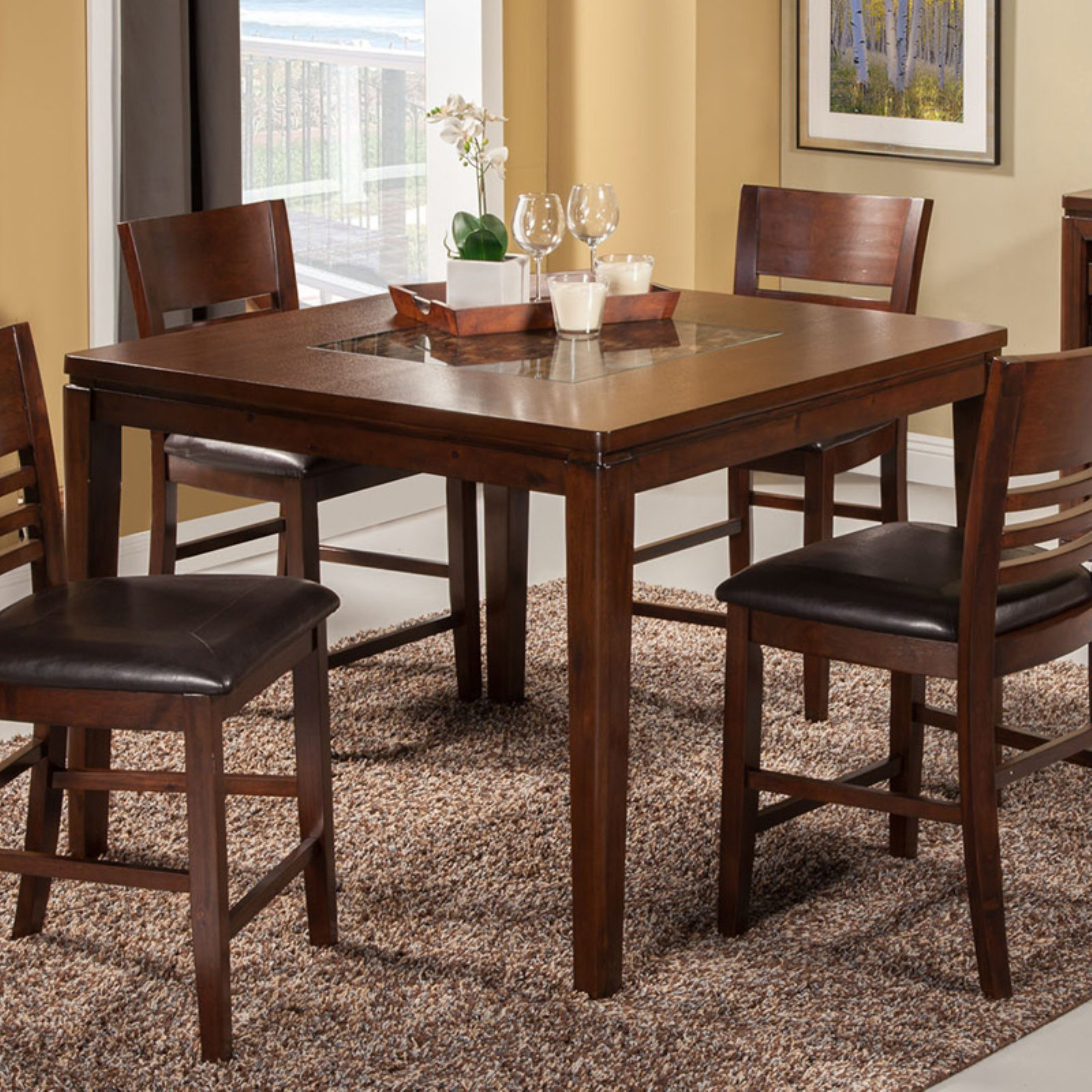 Alpine Furniture Granada Counter Height Dining Table
