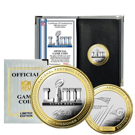 - Los Angeles Rams vs. New England Patriots Highland Mint Super Bowl LIII Dueling Two-Tone Flip Coin - No Size