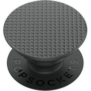 Popsockets Grip with Swappable Top for Cell Phones, PopGrip Knurled Texture Black