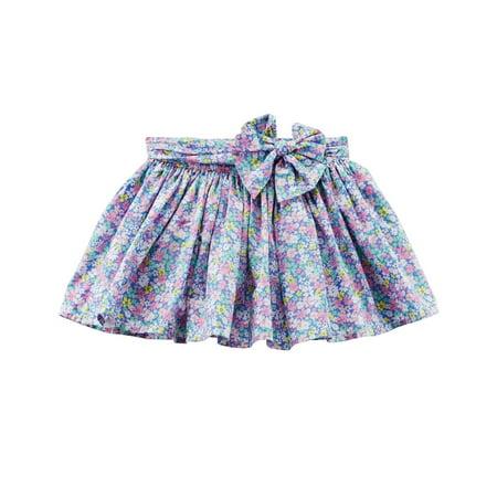 Carter's Little Girls' Floral Poplin Skirt,