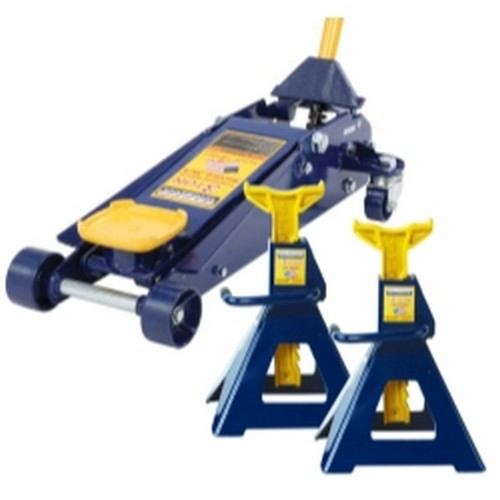 Omega HW93652JS 3 Ton Jack and Jack Stand (Pair) Combination
