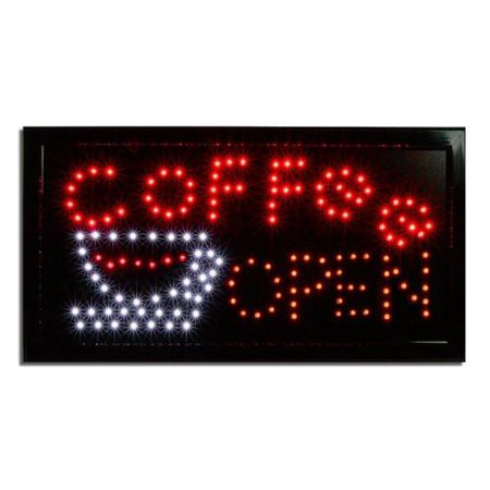 LED Lighted Coffee Open Business Sign Coffee Outdoor Led Sign
