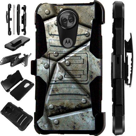 Compatible Motorola Moto G7 Power (2019) | Moto G7 Optimo Maxx Case Armor Hybrid Phone Cover LuxGuard Holster (Best Phone In World 2019)