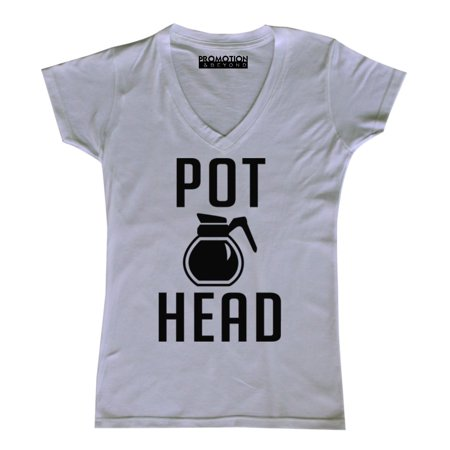 P Coffee Pot Head Women's V-neck