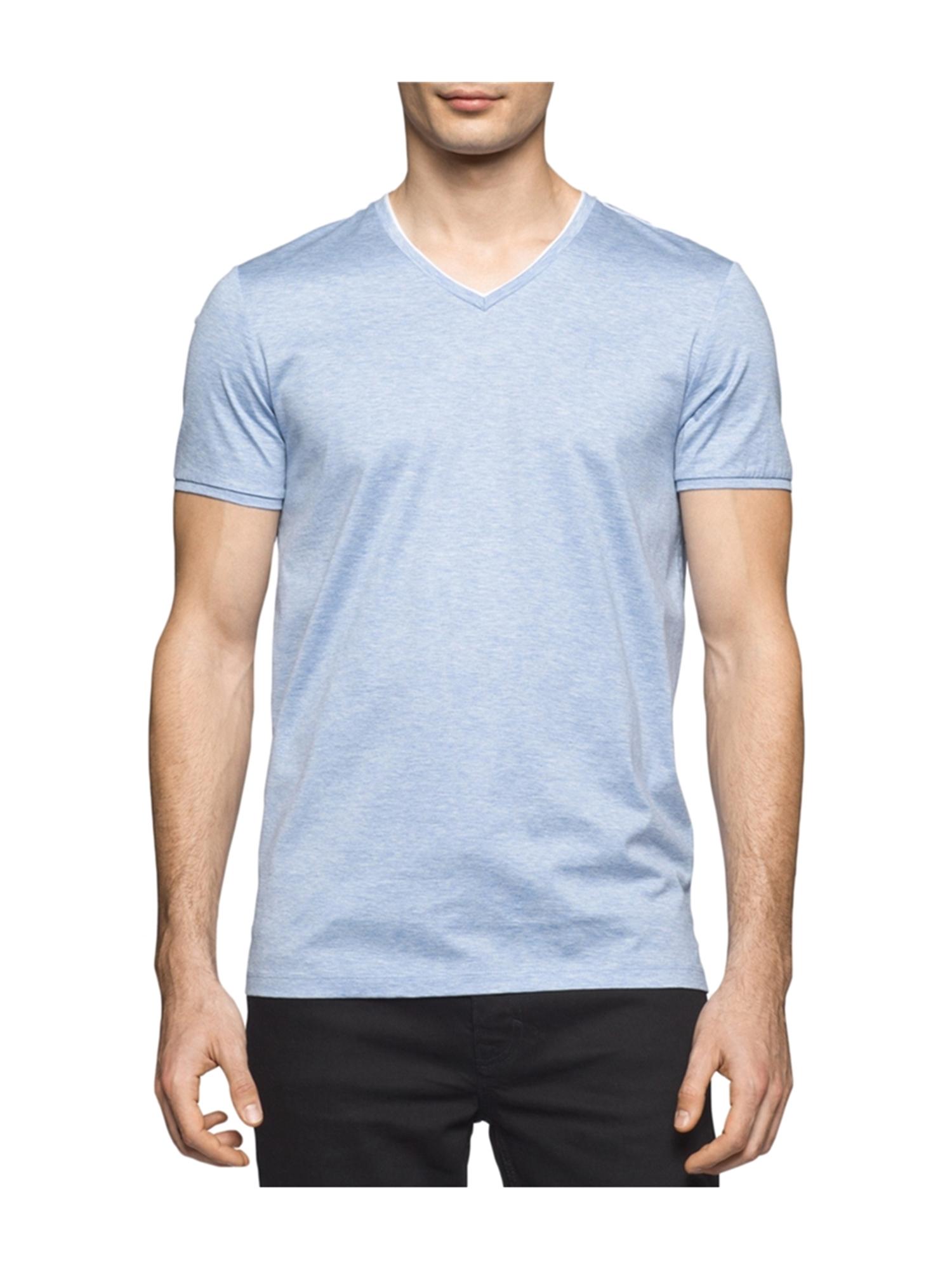 df8a5ac43116d Calvin Klein Mens Cotton Basic T-Shirt icedpurple M