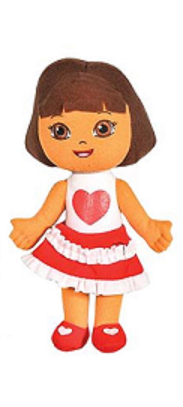 "Nickeloden Dora heart dress 10"" plush by"
