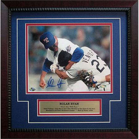 MLB 11x14 Autographed Frame, Nolan Ryan Texas Rangers