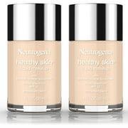 2 Pack -Neutrogena Healthy Skin Liquid Makeup Foundation, Broad Spectrum Spf 20, 30 Buff, 1 Oz.
