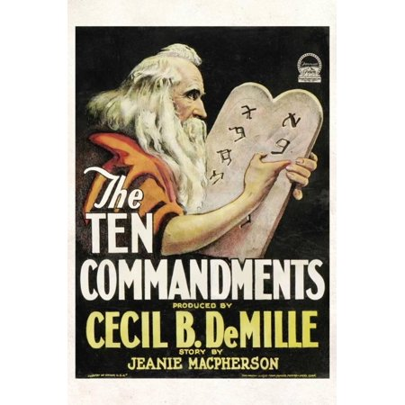 The Ten Commandments Movie Cecil B DeMille Poster Print Laminated ...