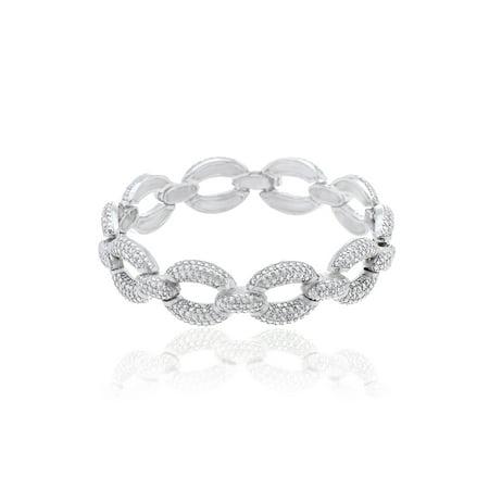 Diamond Accent Oval Link Bracelet
