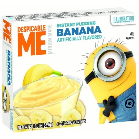 - (3 Pack) MINIONS Pudding, Banana, 3.13 Oz, 12 Ct