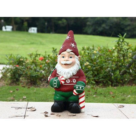 HI-LINE GIFT LTD. ELF WITH CANDY CANE STATUE](Candy Cane Elf)