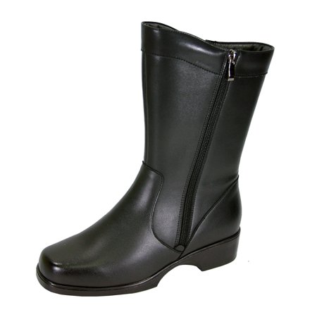 808e4c2c8c1e0 Peerage - PEERAGE Athena Women Wide Width Wide Calf Casual Leather Boot  BLACK 11 - Walmart.com