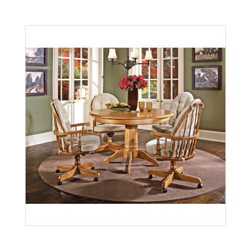 Cochrane Furniture Thresher\'s Too 5 Piece Single Pedestal ...