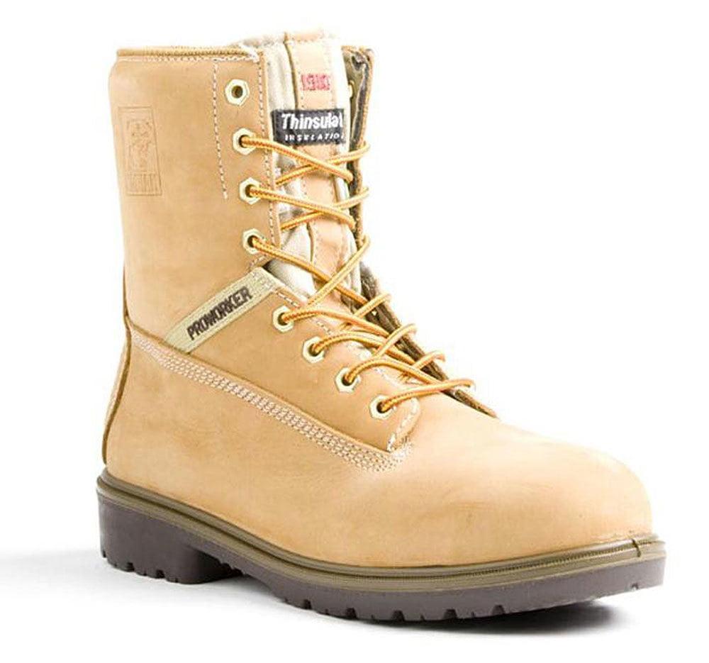 "Kodiak Men's 8"" Proworker Waterproof Beige Boots 10 M"