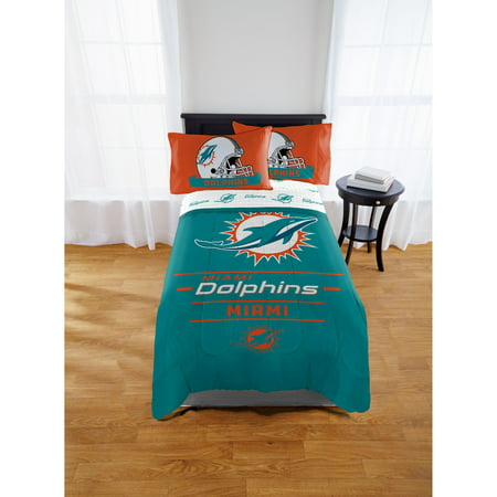 NFL Miami Dolphins Monument Twin & Full Comforter Set, 1 Each