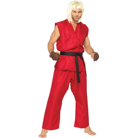 Leg Avenue Costumes 4Pc.Ken Includes Shirt Pants Belt and Hand Pads, Red, Small/Medium - Hand Costumes