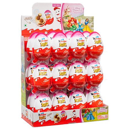 New 374714  Kinder Joy Surprise Egg Girl 24Ct (24-Pack) Chocolate Cheap Wholesale Discount Bulk Candy Chocolate Boys (Kinder Surprise Eggs With Toy)