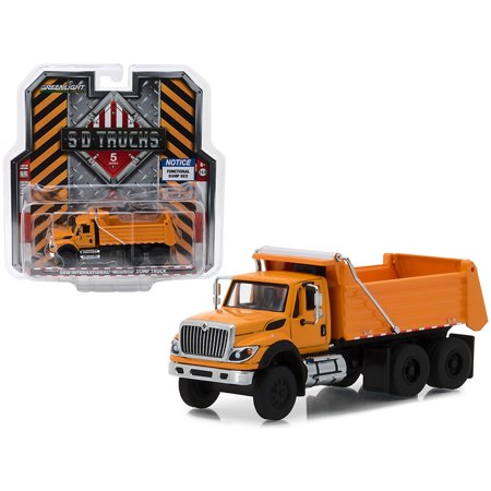 2018 International WorkStar Construction Dump Truck Orange S.D. Trucks Series 5 1/64 Diecast Model by Greenlight