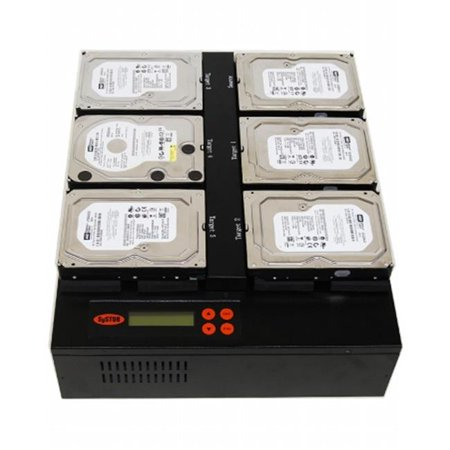 Produplicator SYS205HDD Systor Flatbed Type 1-5 SATA HDD-SSD Hard Disk Solid State Drive Clone Standalone Duplicators Copier 60MB-sec