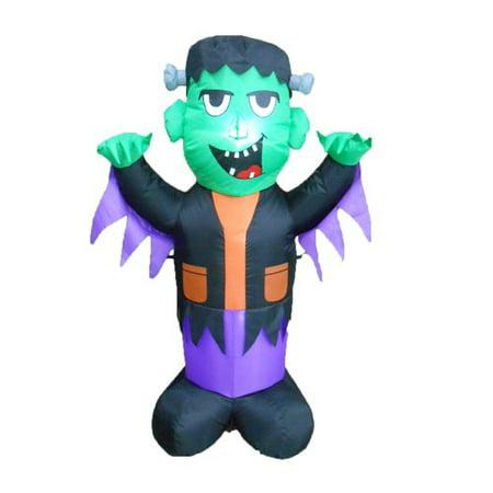 Halloween Frankenstein Door Display (The Holiday Aisle Halloween Inflatable)
