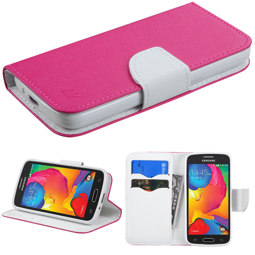 For G386T Galaxy Avant Hot Pink Pattern/White Liner MyJacket wallet +card slot