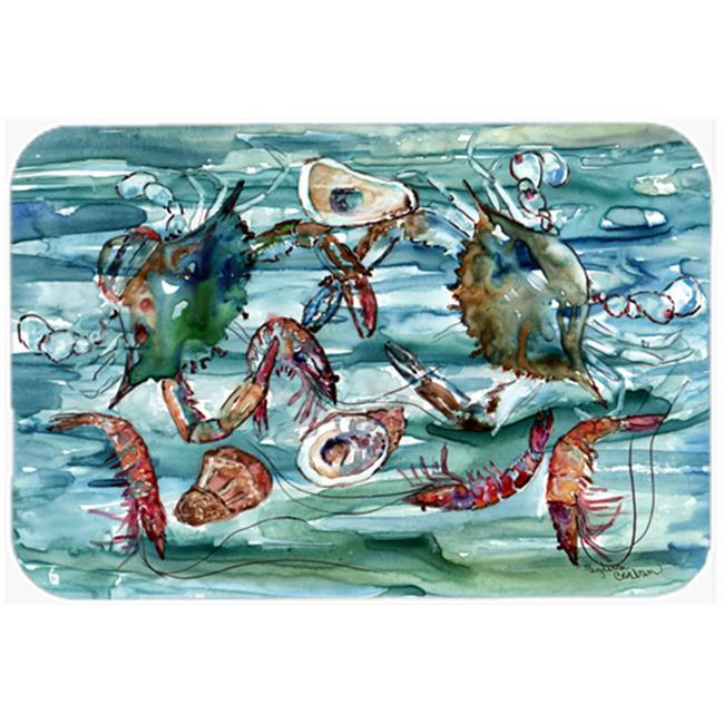 Crabs, Shrimp And Oysters In Water Kitchen & Bath Mat, 20 x 30 - image 1 de 1