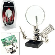 "Stalwart Helping Hand 3.5"" Magnifier with Soldering Station"