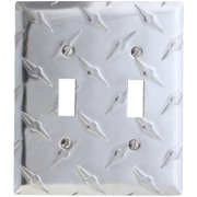 elumina garage diamond cut design wallplate, double toggle
